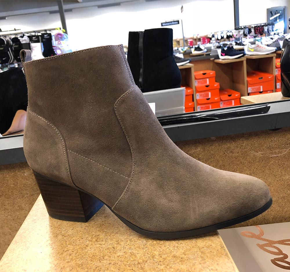 crown vittage taupe suede bootie