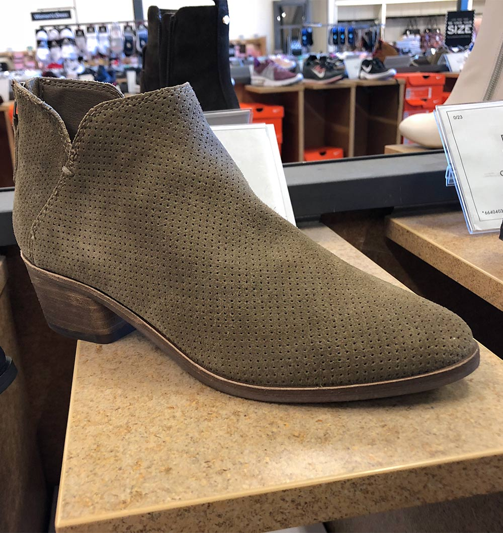 dolce vita low perforated bootie