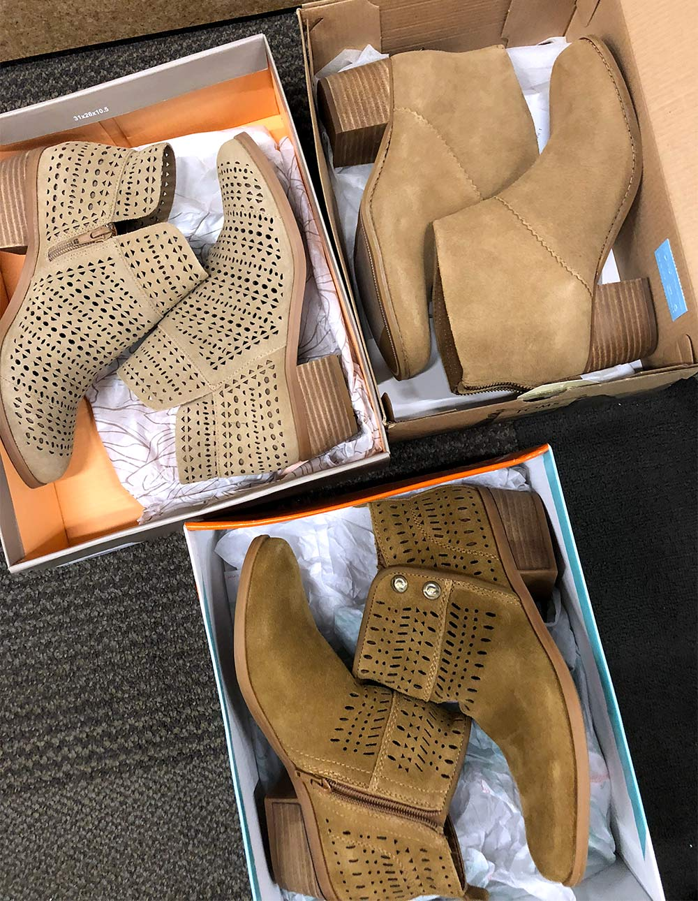 dsw toms bare traps crown vintage booties