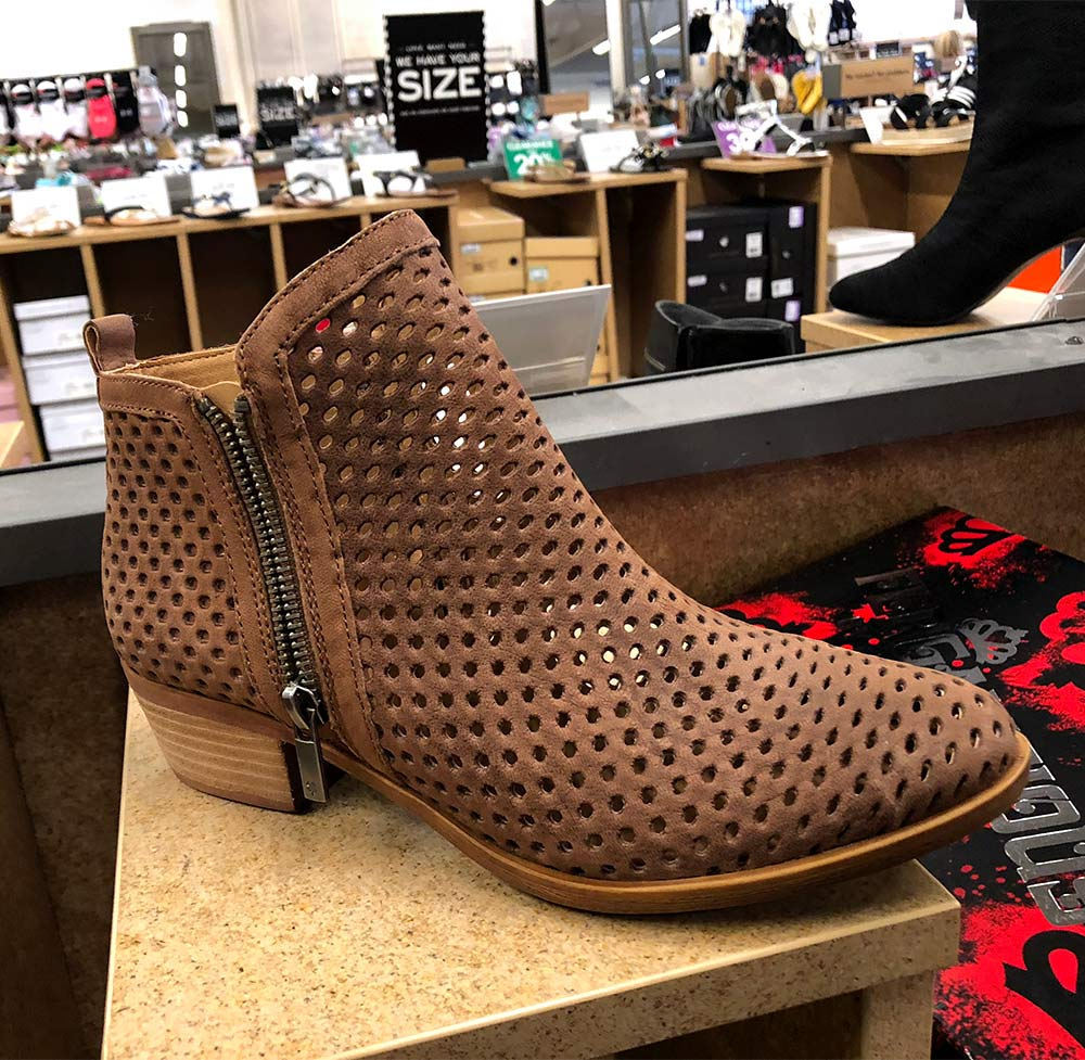 lucky perforated bootie brown