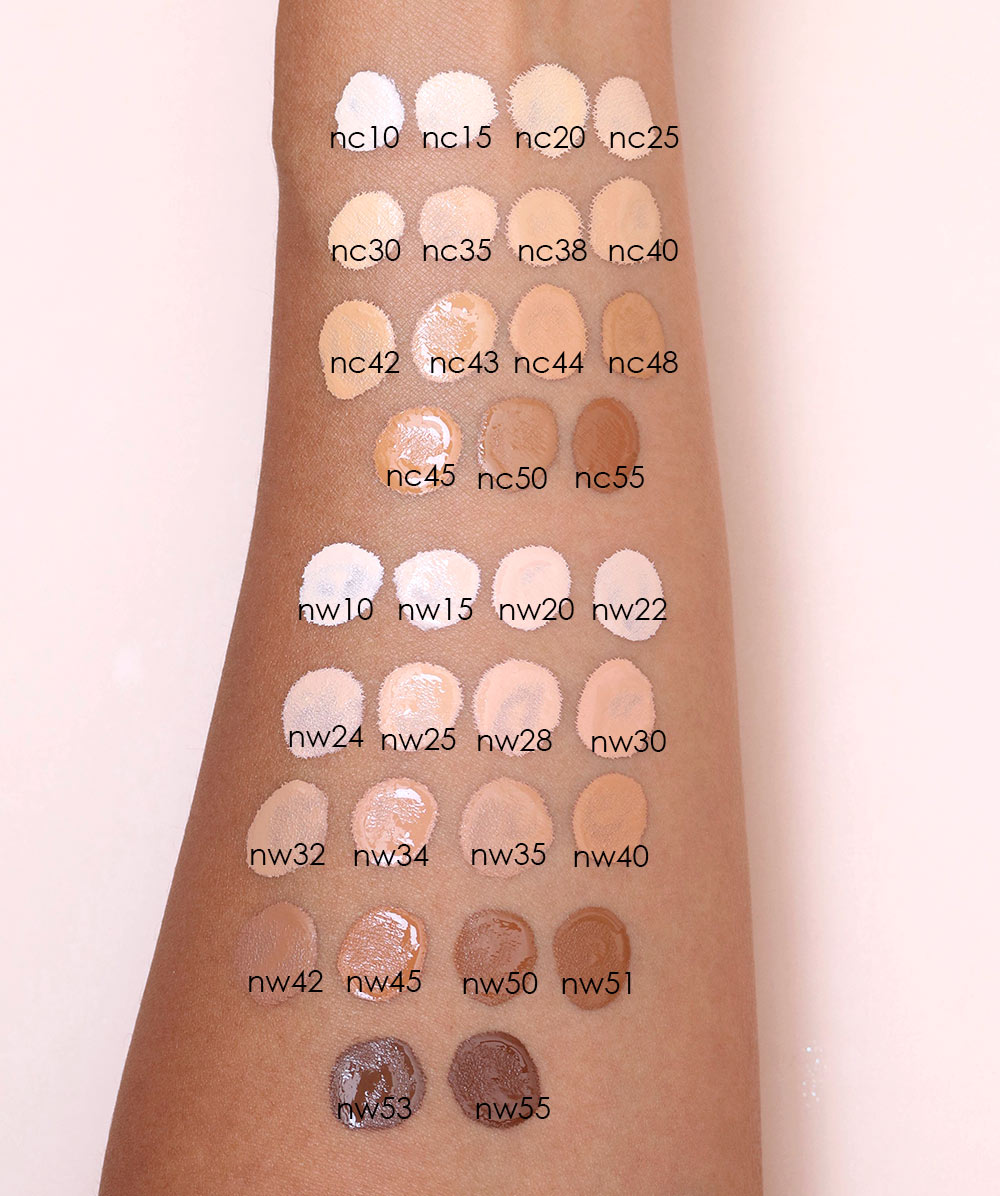 mac studio fix 24 hour concealer swatches