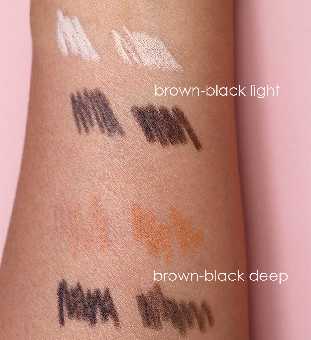 benefit brow contour swatches