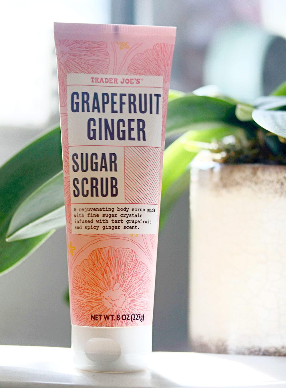 trader joes grapefruit ginger sugar scrub