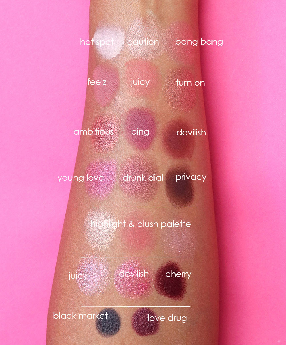 urban decay naked cherry collection swatches