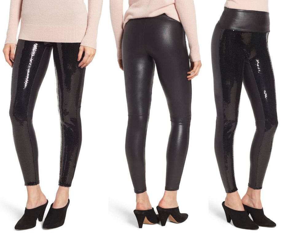 spanx sequin leggings