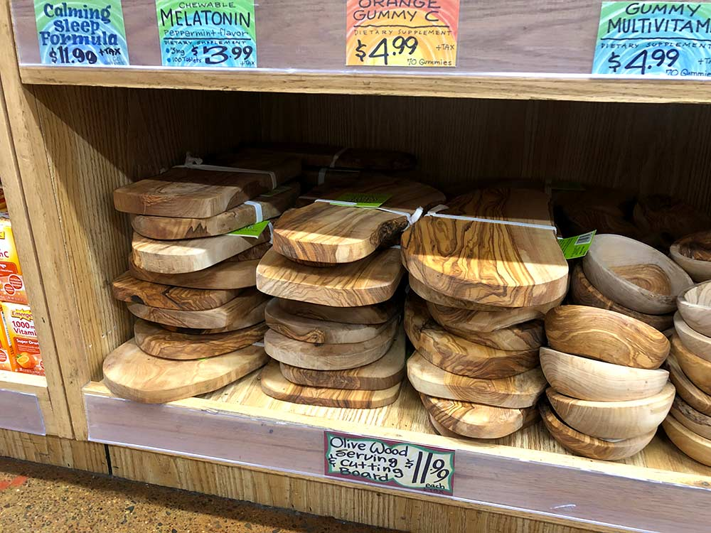trader joes olivewood boards price