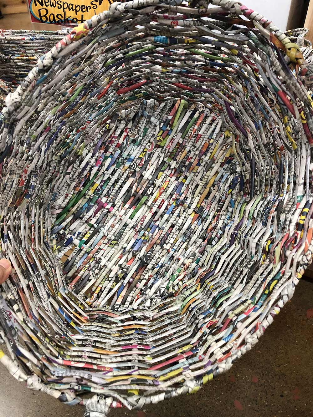 trader joes recycled newspaper baskets top