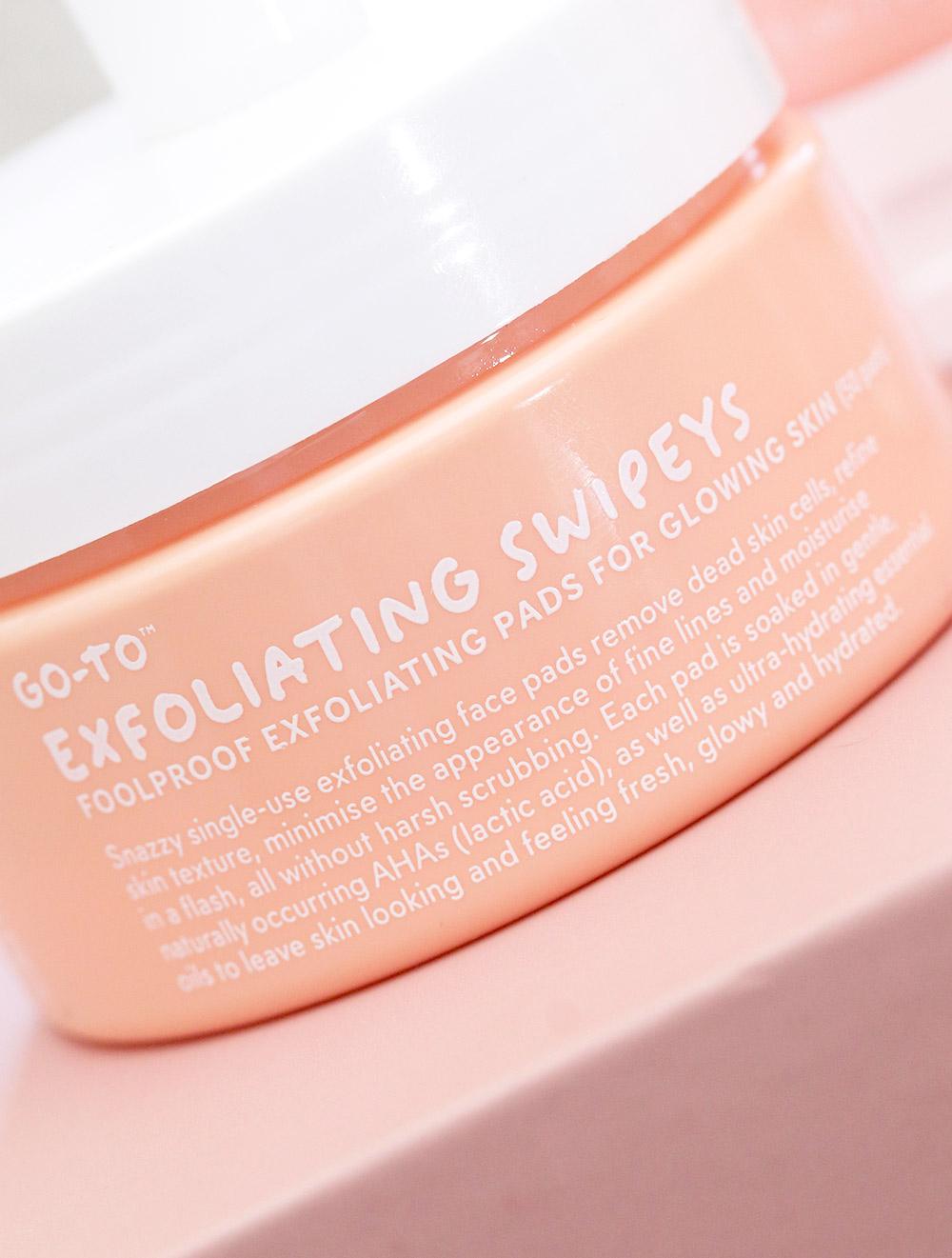 go to skin care exfoliating swipeys