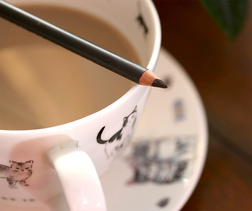 mac coffee eye pencil