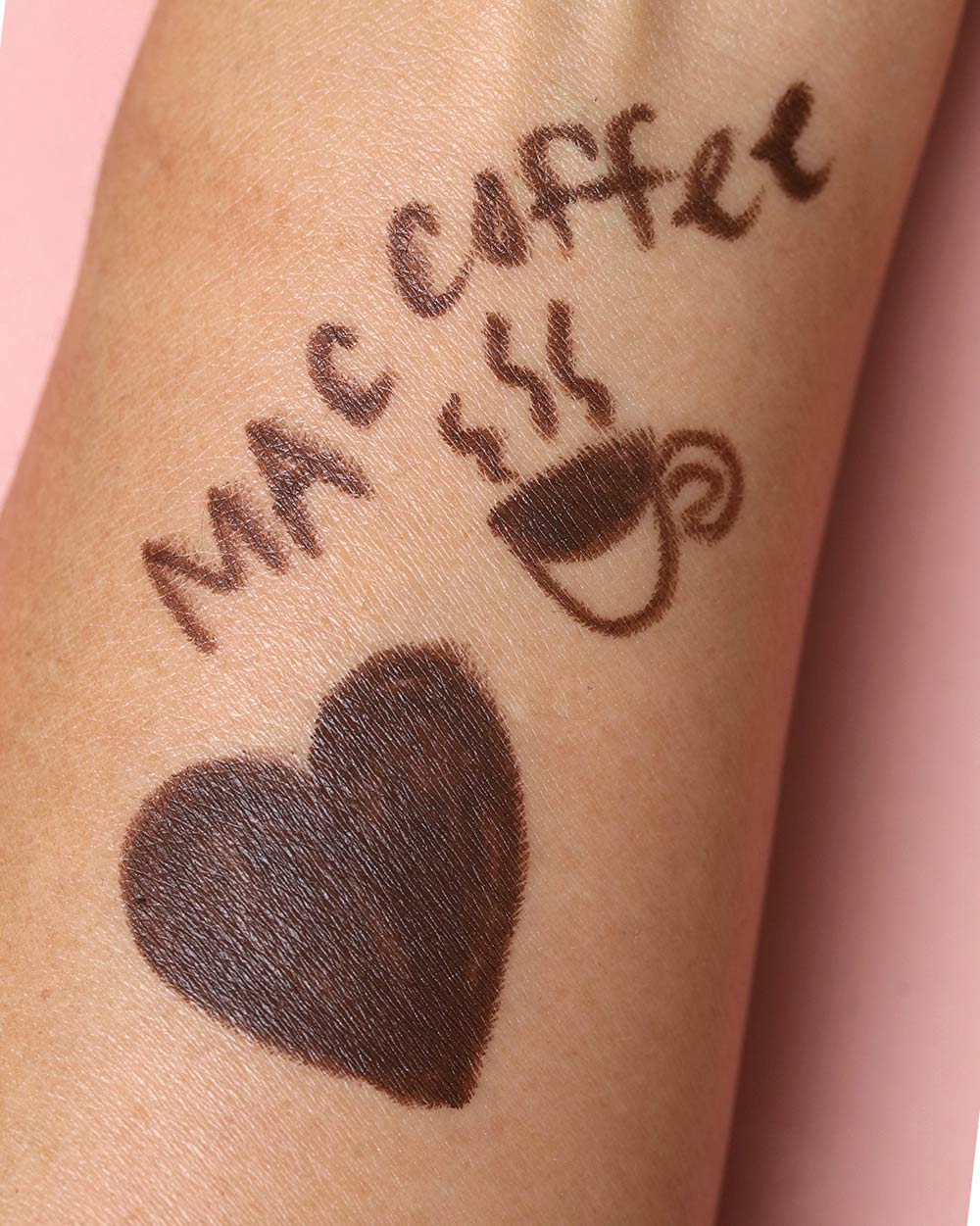 mac coffee swatch