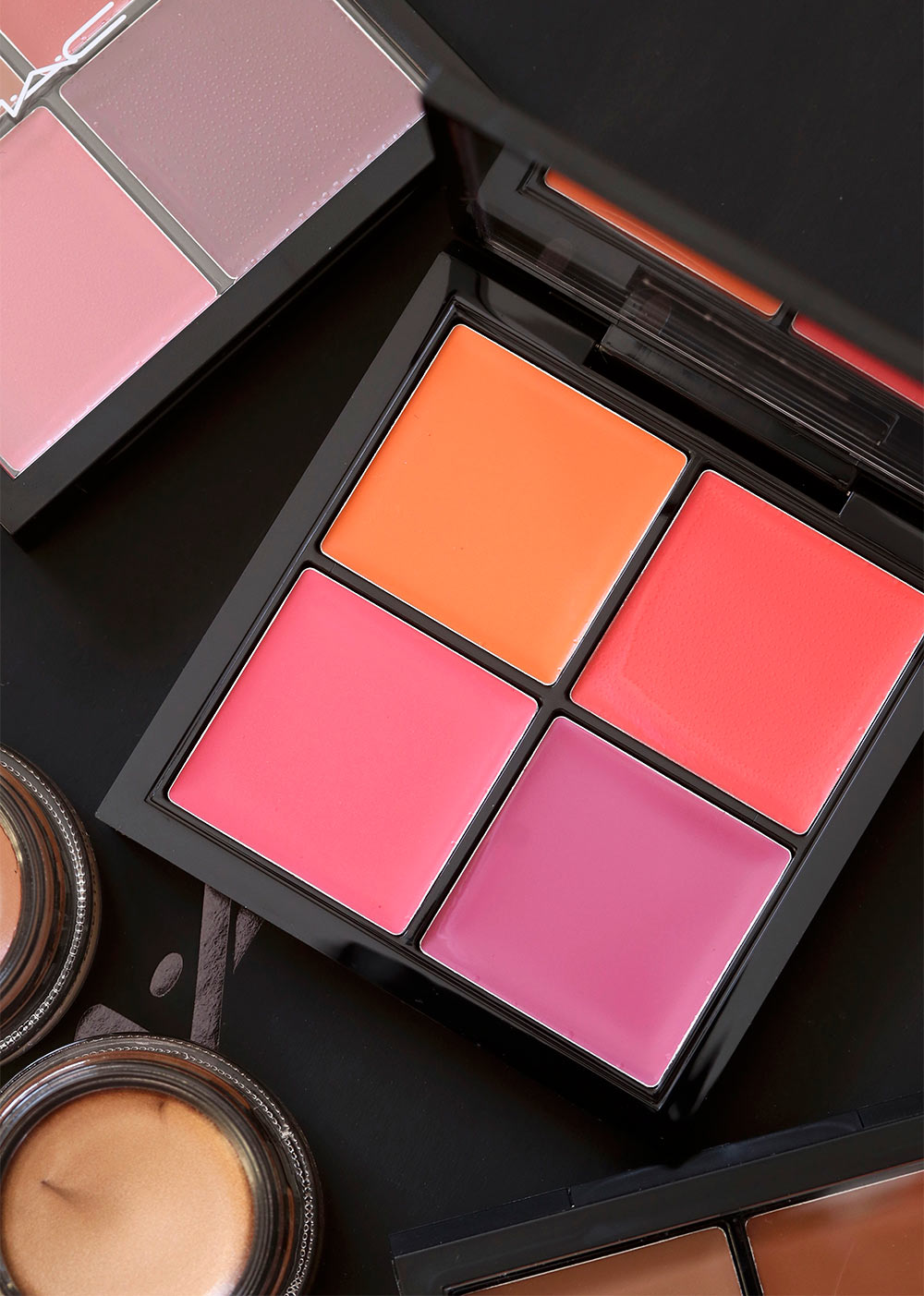 mac pro face palette bright blush