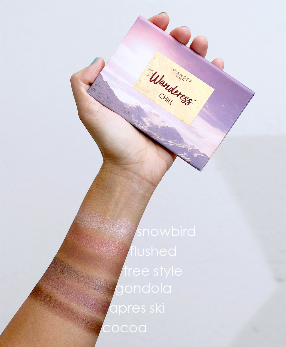 wander beauty wanderess chill swatches