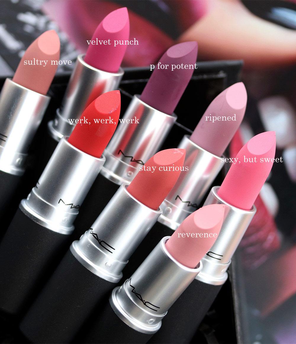Eight New Shades Of Mac Powder Kiss Moisture Matte Lipstick Join The Mac Permanent Line Makeup And Beauty Blog