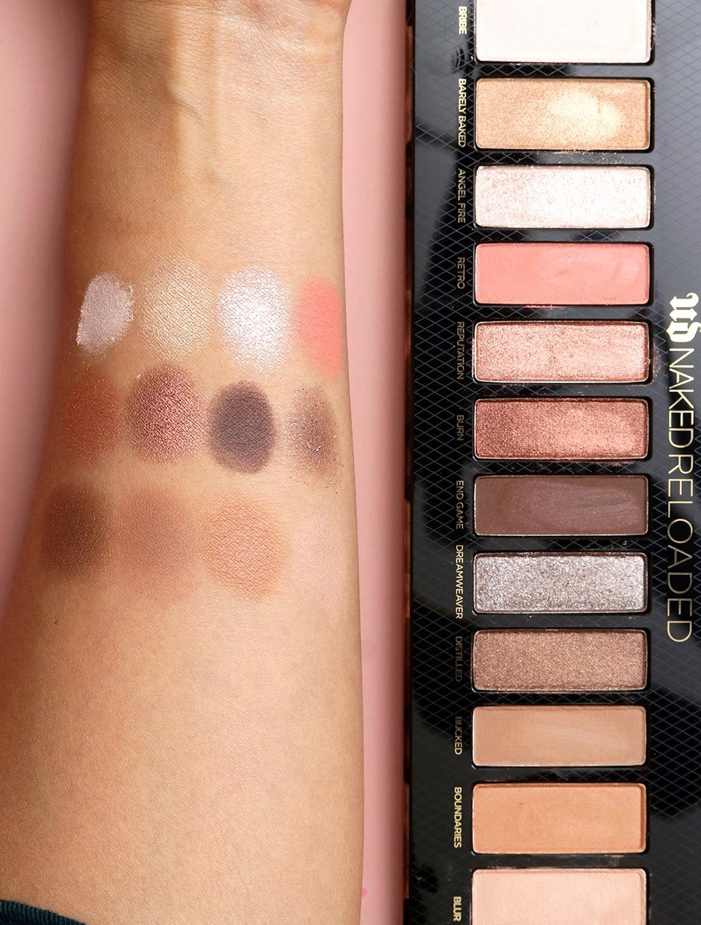 urban decay naked reloaded swatches tan skin