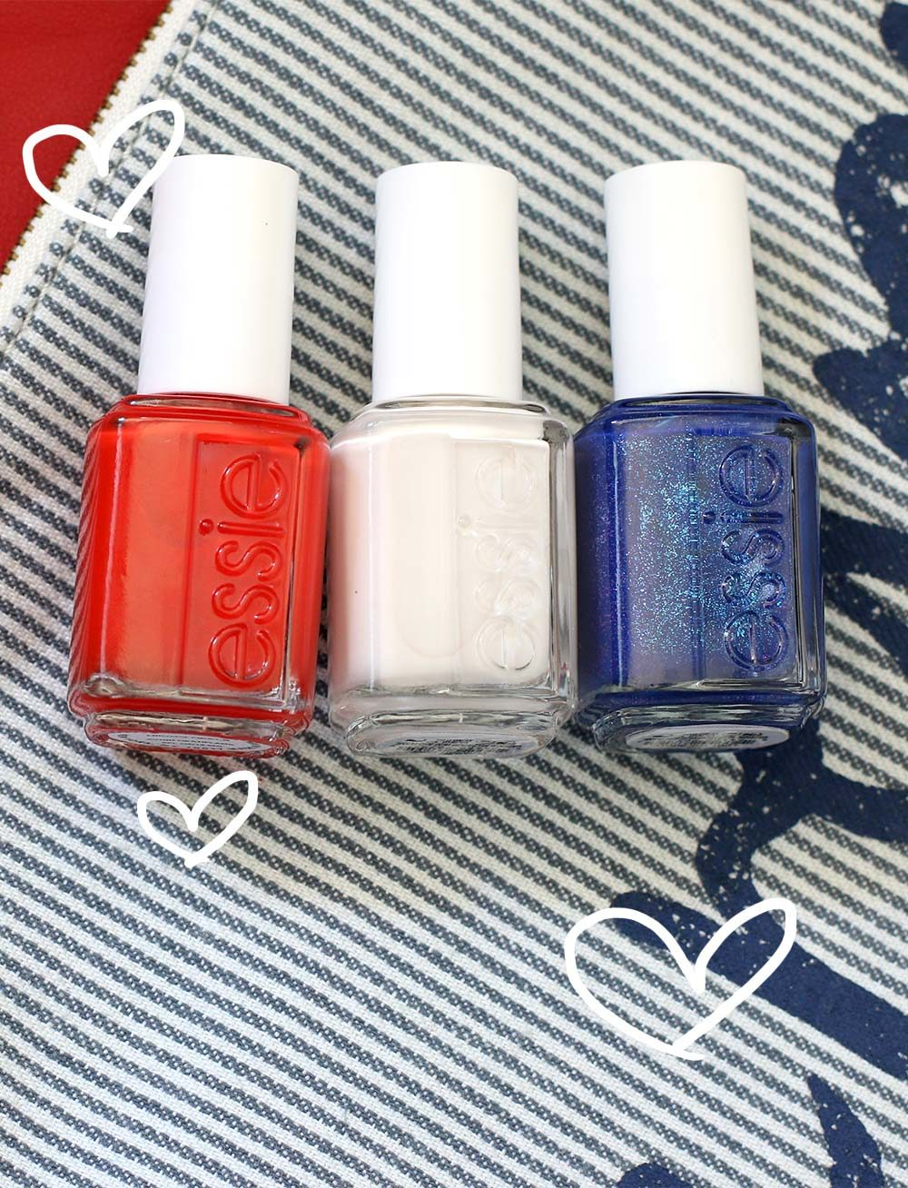 essie red white blue