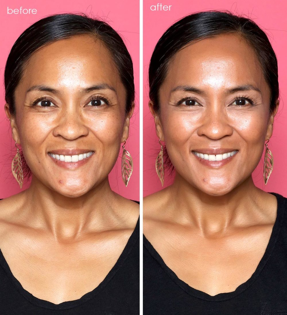 first aid beauty tinted moisturizer before and after