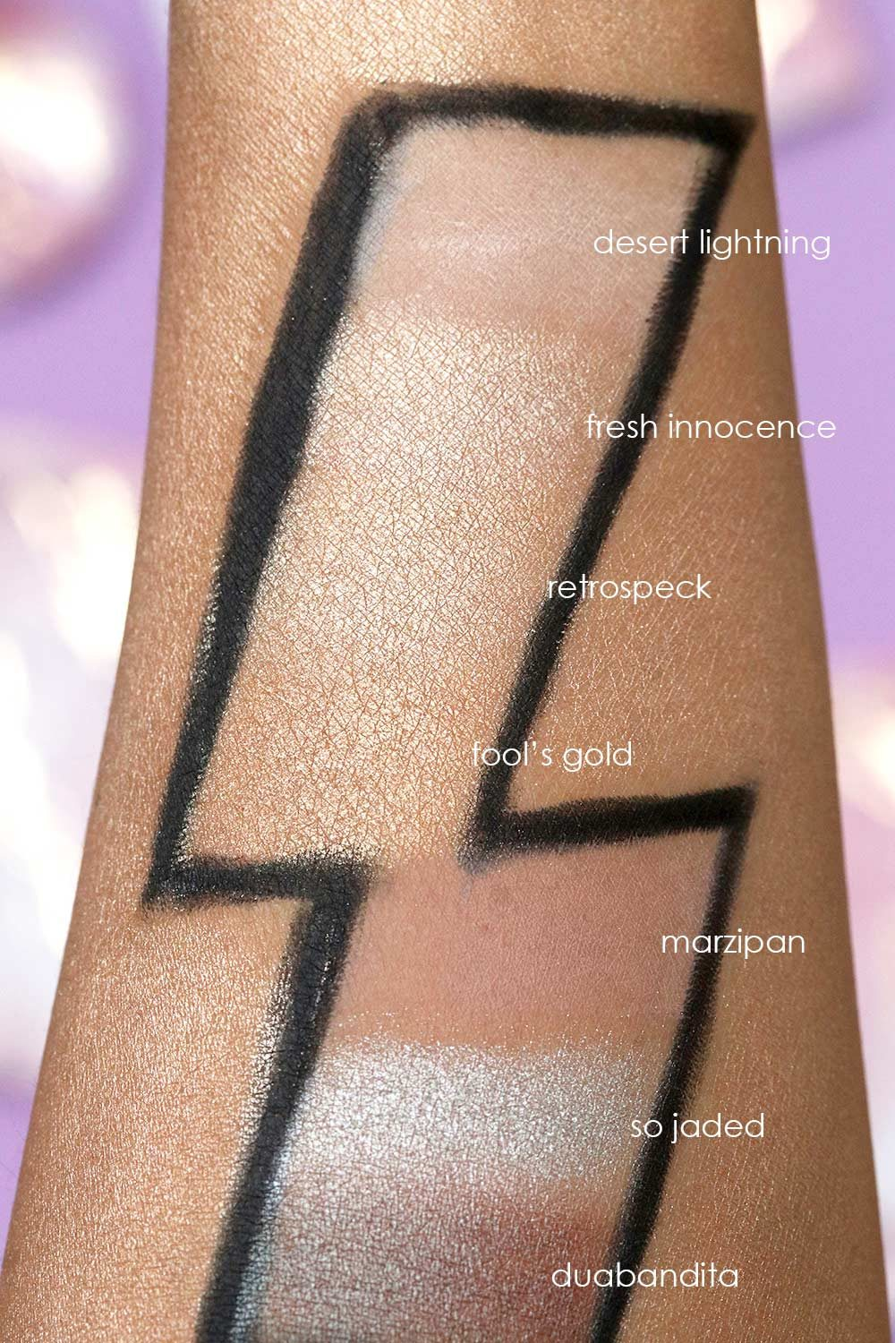 mac desert lightning swatch 1