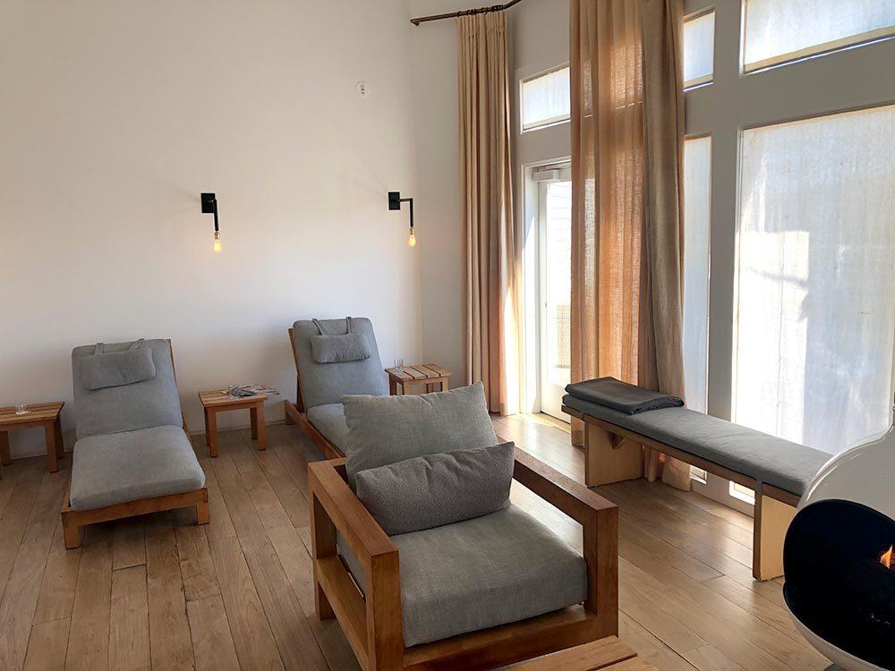 inside international orange spa