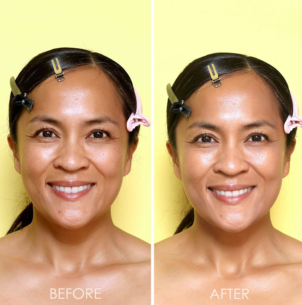 it cosmetics color correcting full coverage cream tan before after