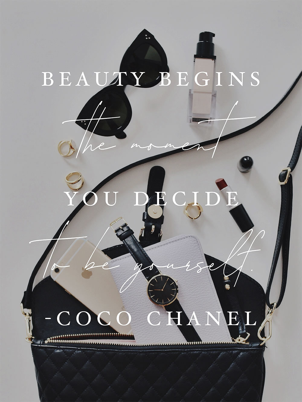 beauty begins coco chanel quote