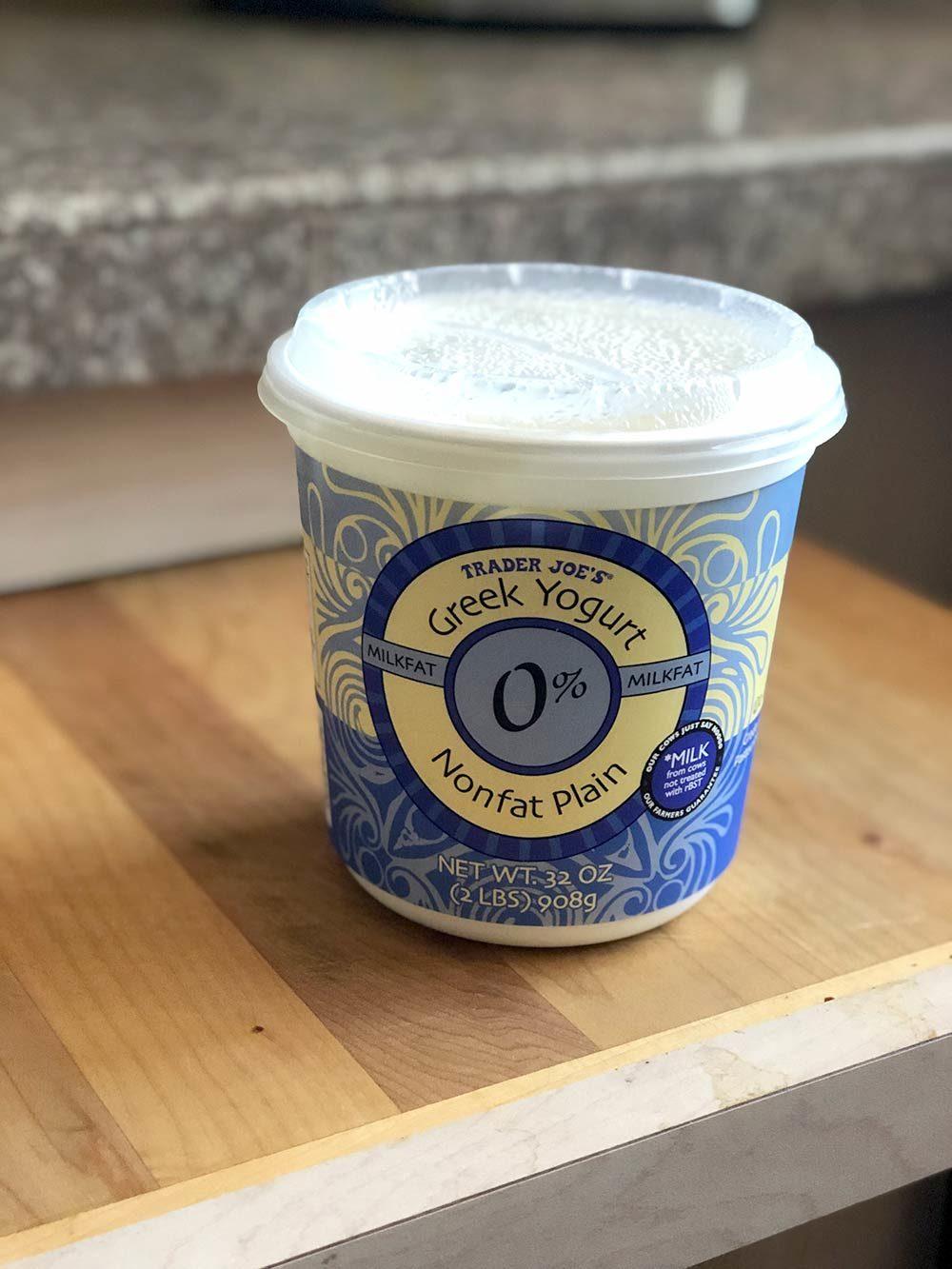 greek yogurt nonfat plain trader
