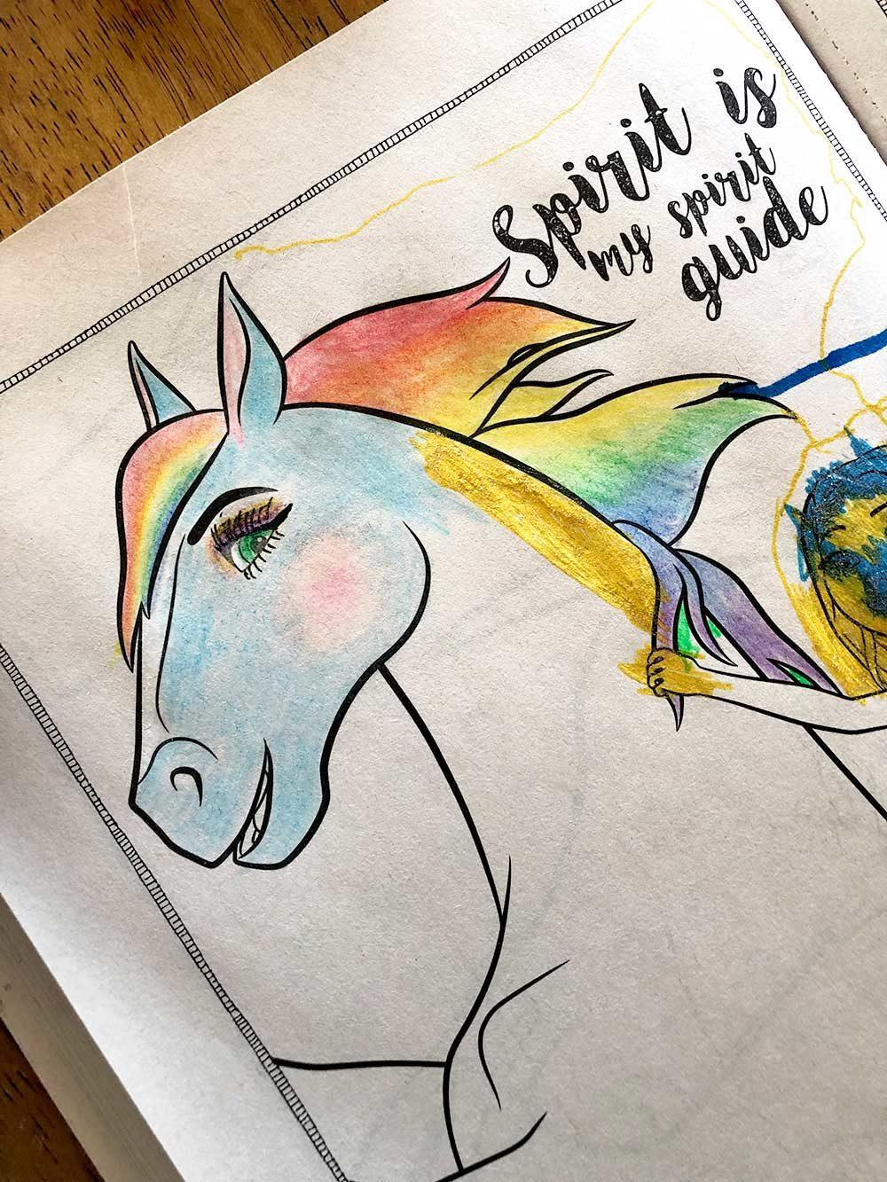 spirit rainbow mane