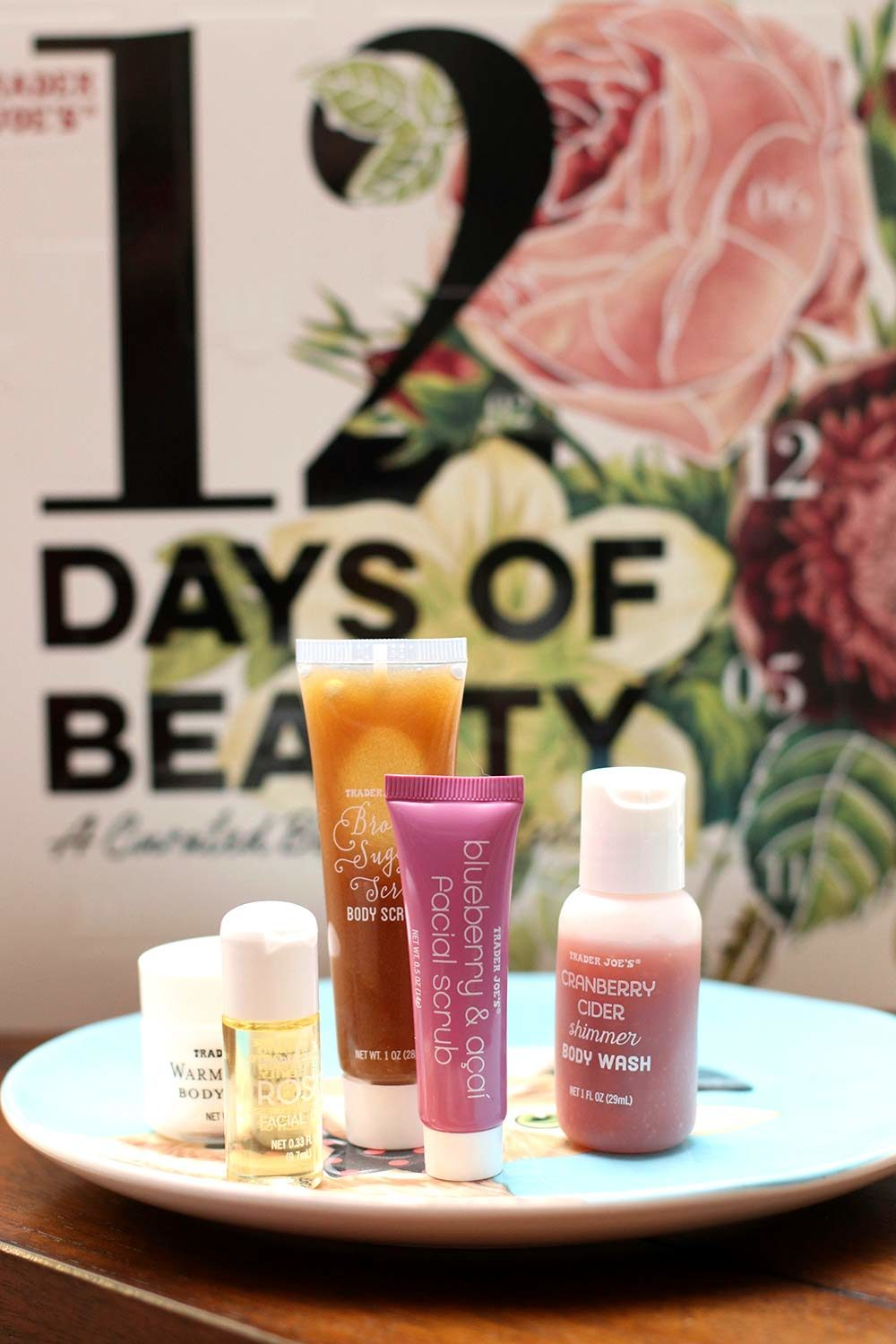 trader joes 12 days of beauty items
