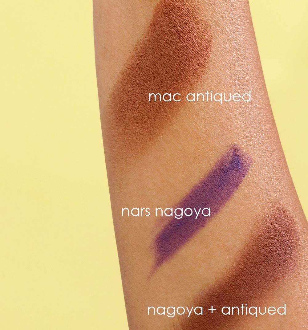 mac antiqued swatch