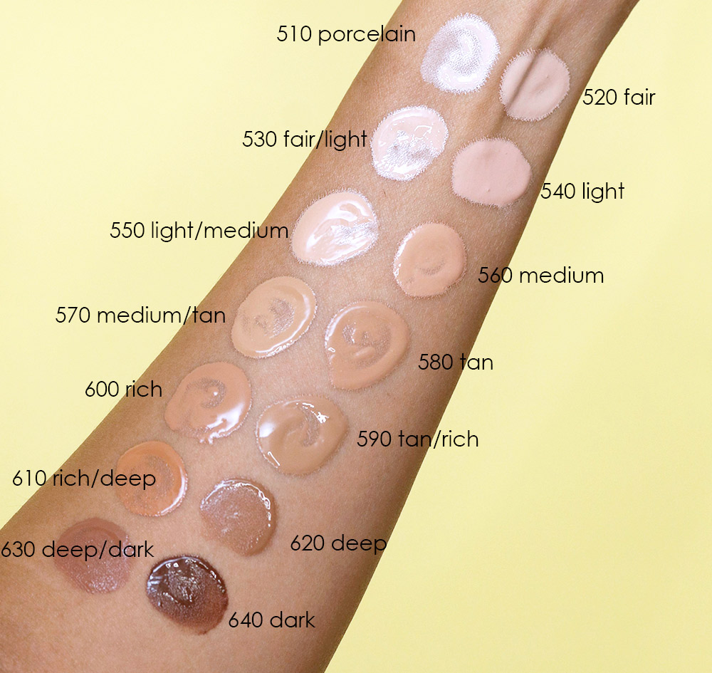 covergirl clean fresh skin milk swatches