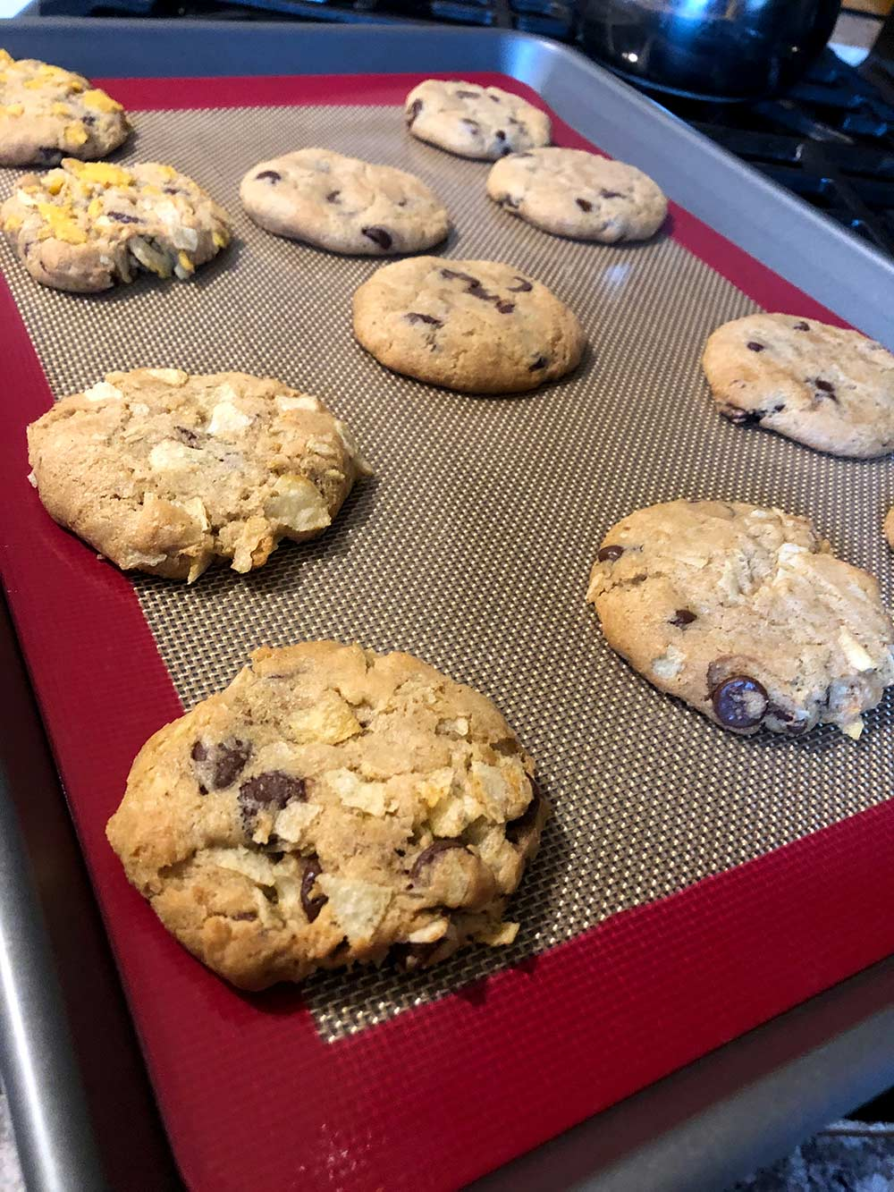 gluten free chocolate chip cookie baked