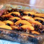 peach blueberry oatmeal bake