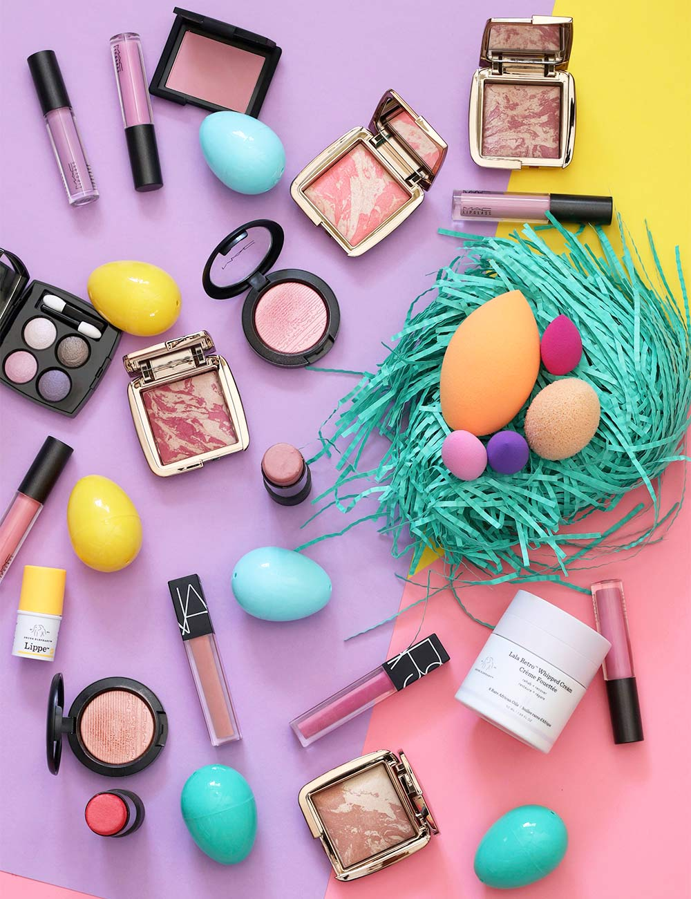 saturday surfing easter eggs makeup