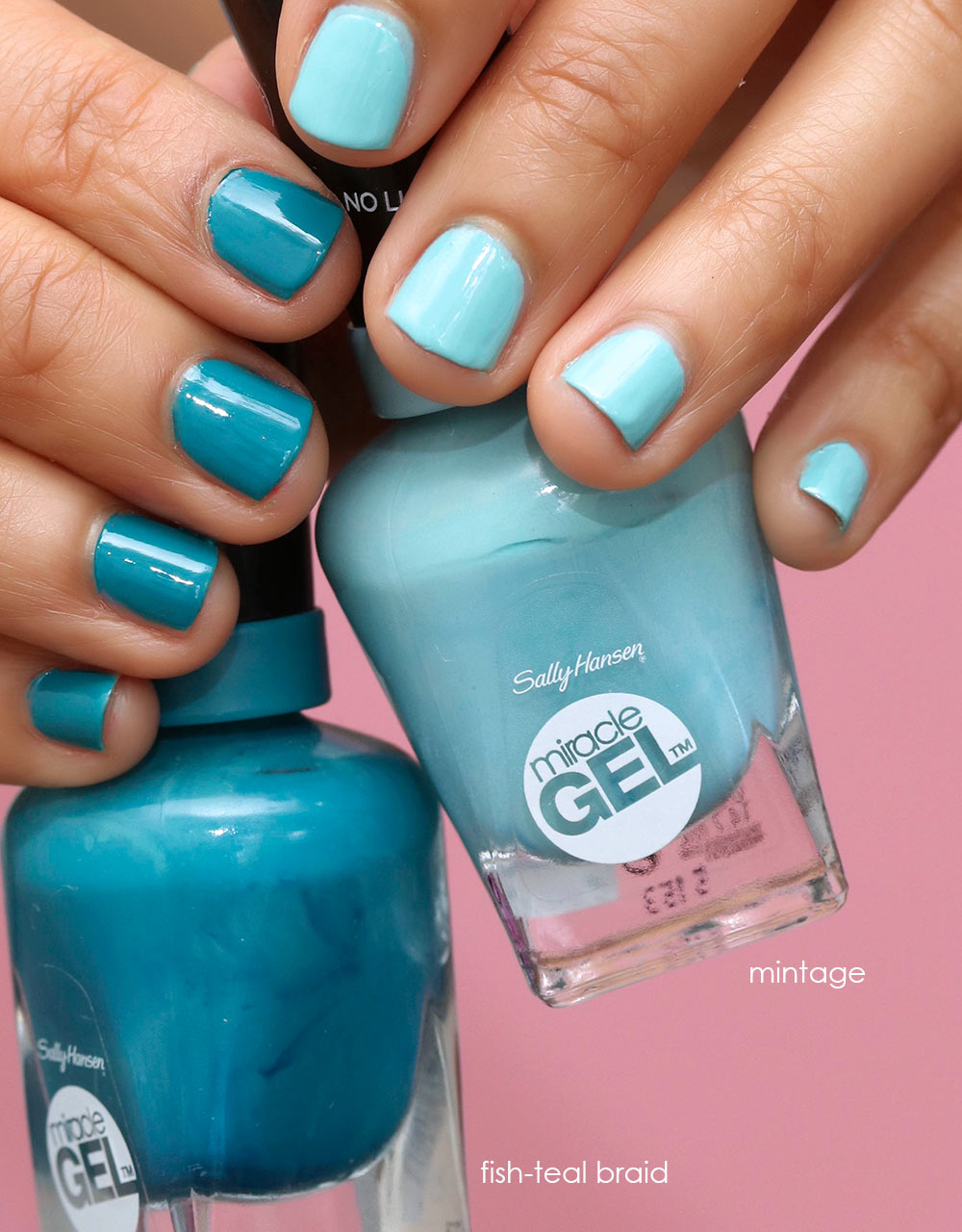 sally hansen miracle gel fish teal braid mintage
