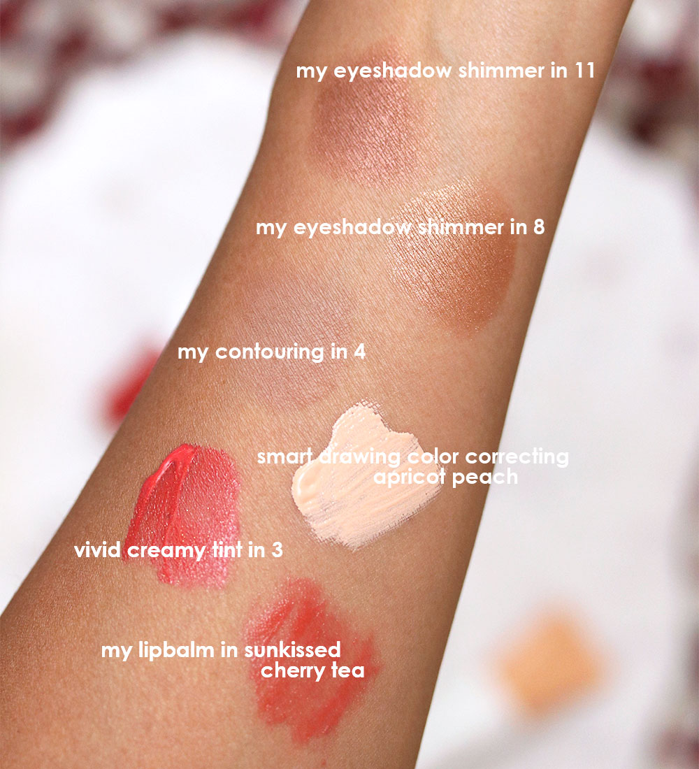 innisfree eyeshadows contour powder tint swatches