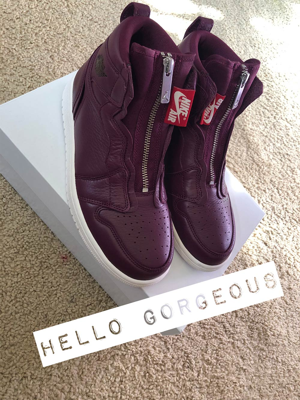 nike air jordan high zip bordeaux