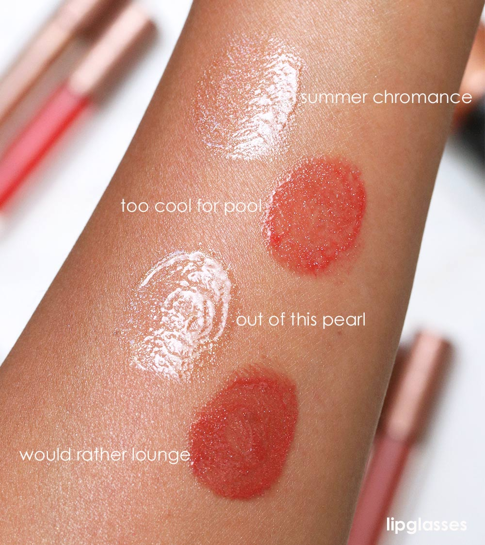 mac bronzer collection swatches lipglasses