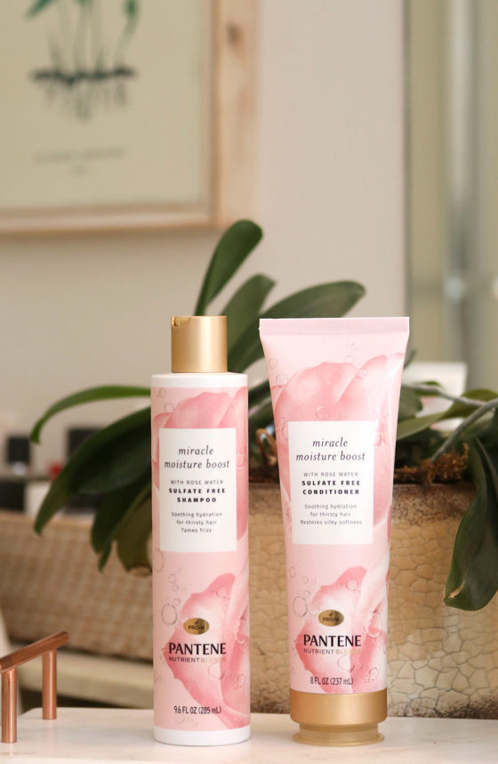 Product Spotlight: Pantene Miracle Moisture Boost Shampoo and Conditioner With Rosewater