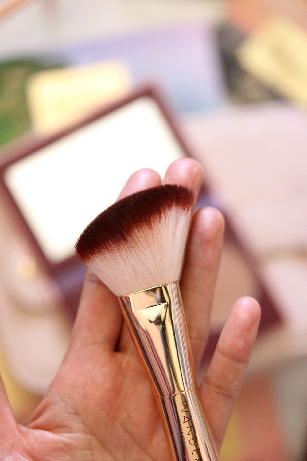 wander beauty trip for two blush bronzer brush head