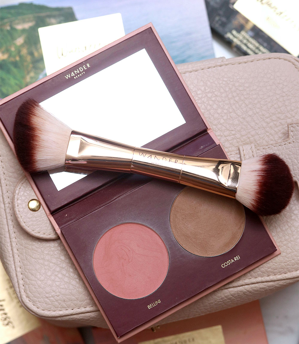 wander beauty trip for two blush bronzer brush
