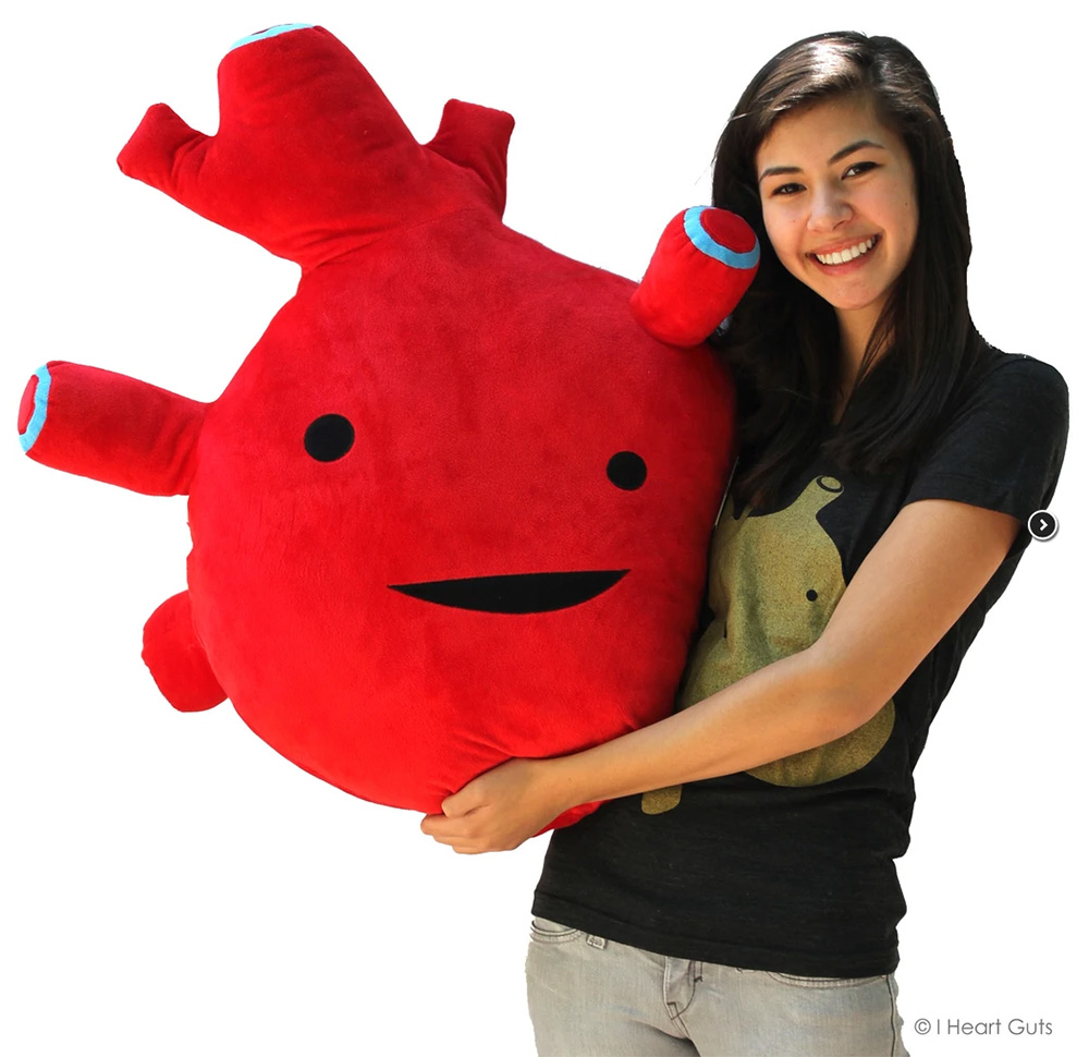 giant stuffed heart