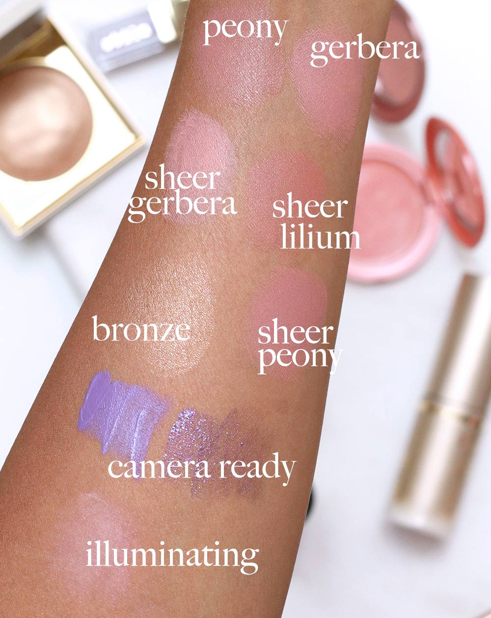 stila swatches summer faves