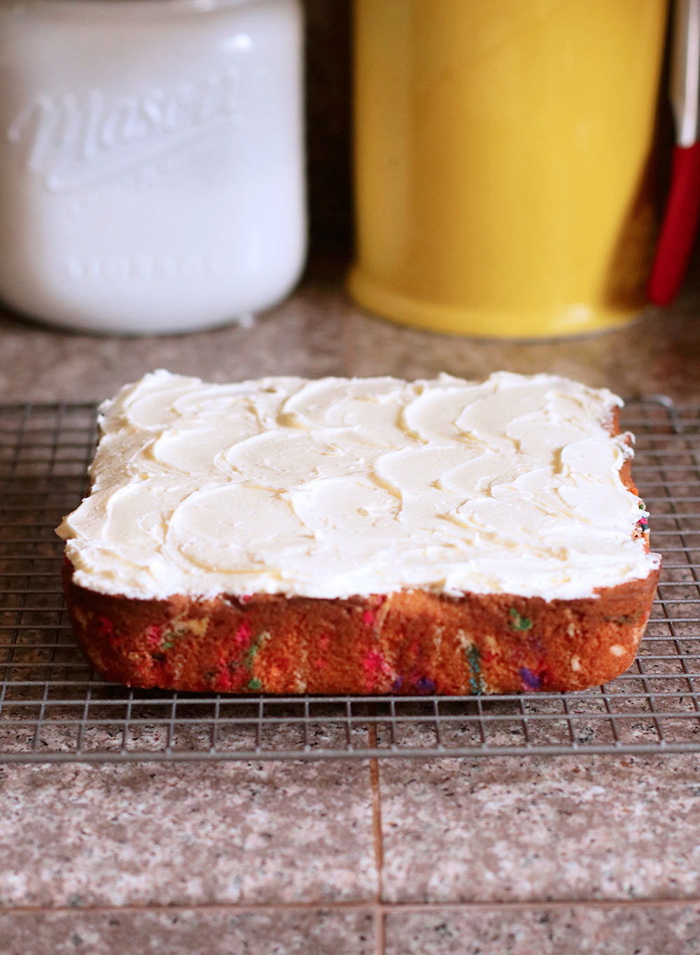baked sprinkle cake final