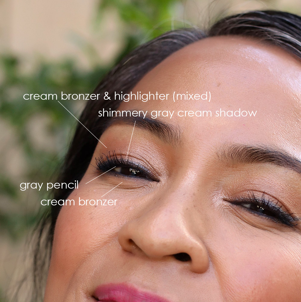 lancome skin feels good lazy girl glam eye closeup