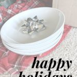 happy holidays bow on plate final