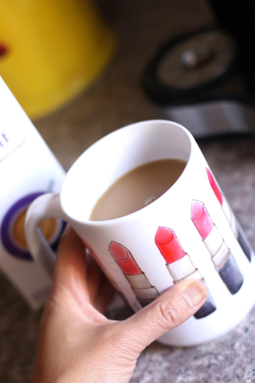 lipstick swatch a thon mug coffee