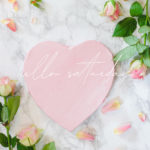hello saturday pink heart and roses