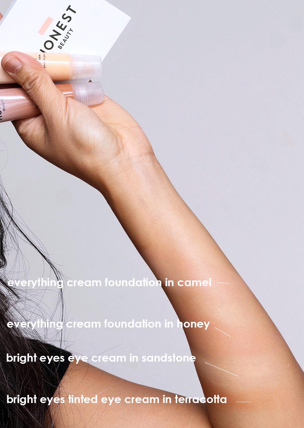 honest beauty cream foundation bright eyes tinted eye cream