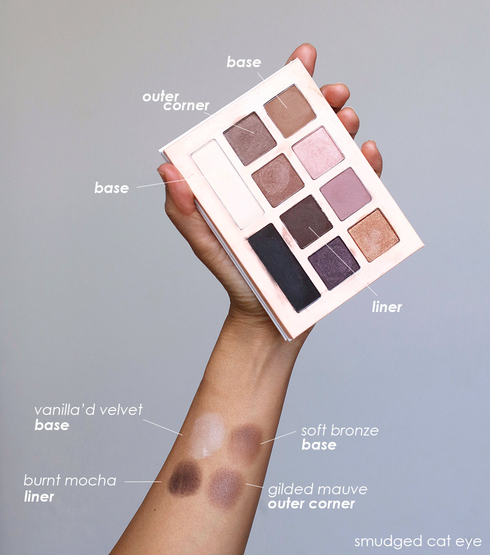 honest beauty smudged cat eye swatches