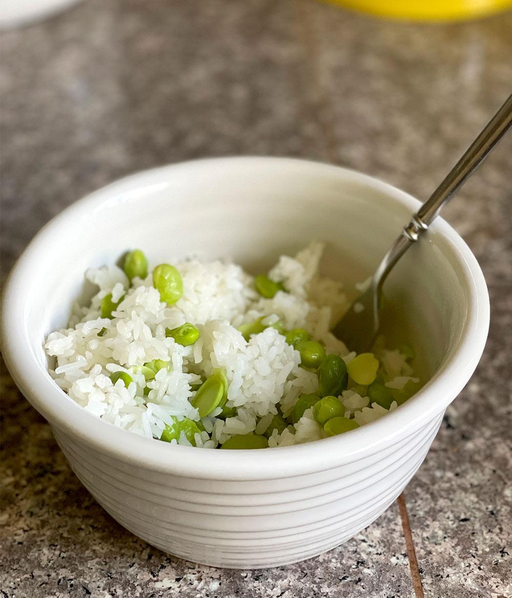 edamame rice no furikake