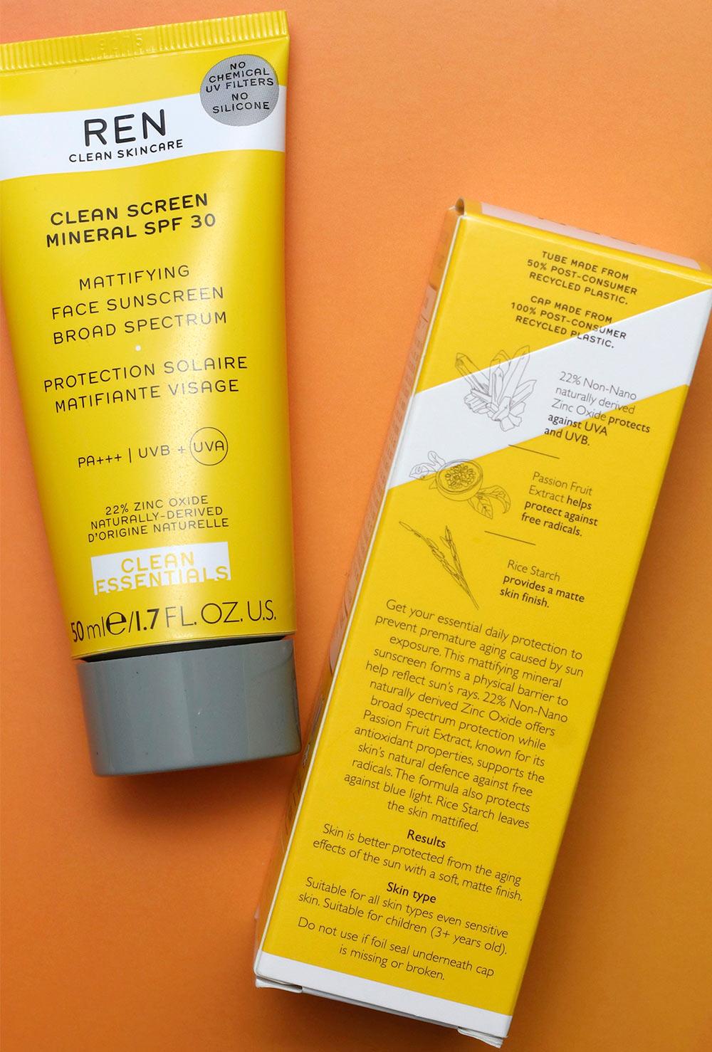 ren skin care sunscreen